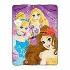 Plush Silk Touch Throw Blanket Disney Princess Rapunzel Cind