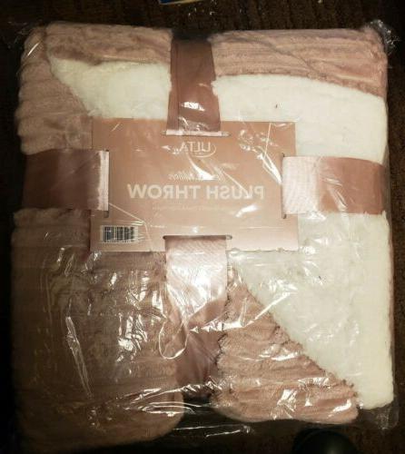 plush throw blanket 50 x 60 pink