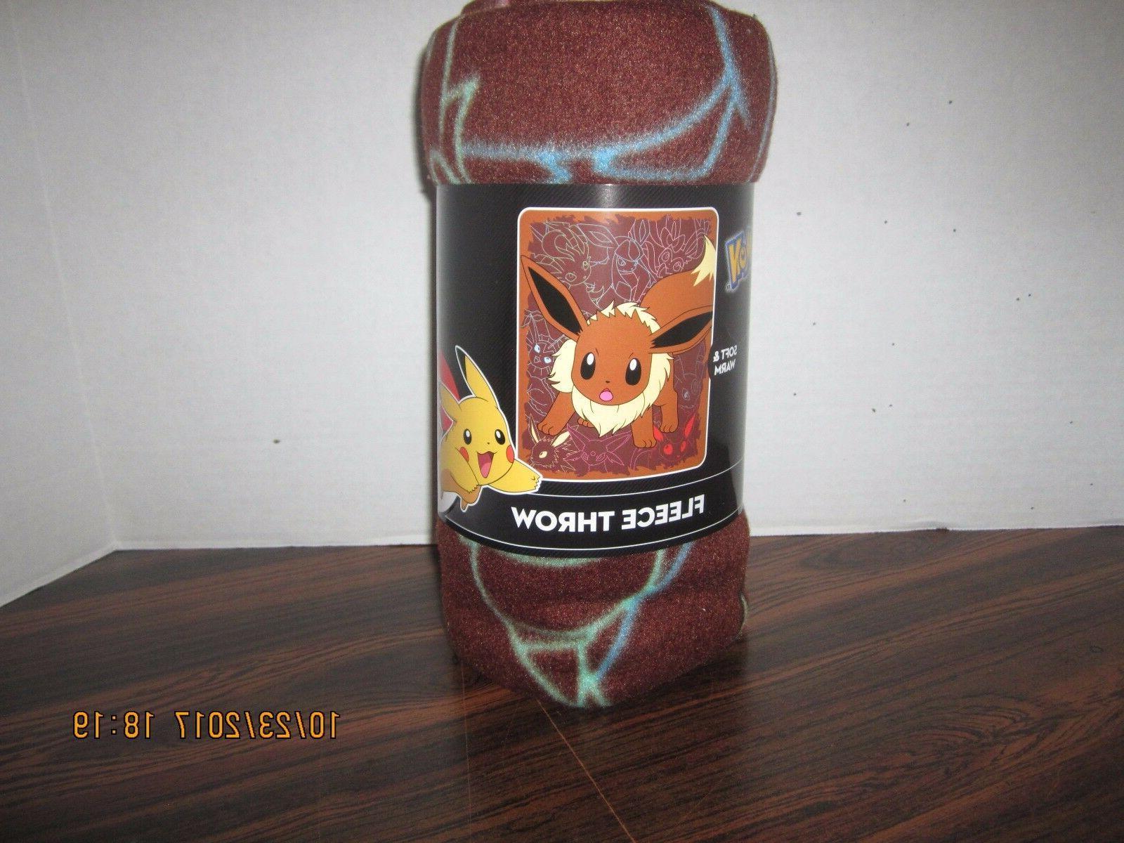 pokemon fleece throw blanket