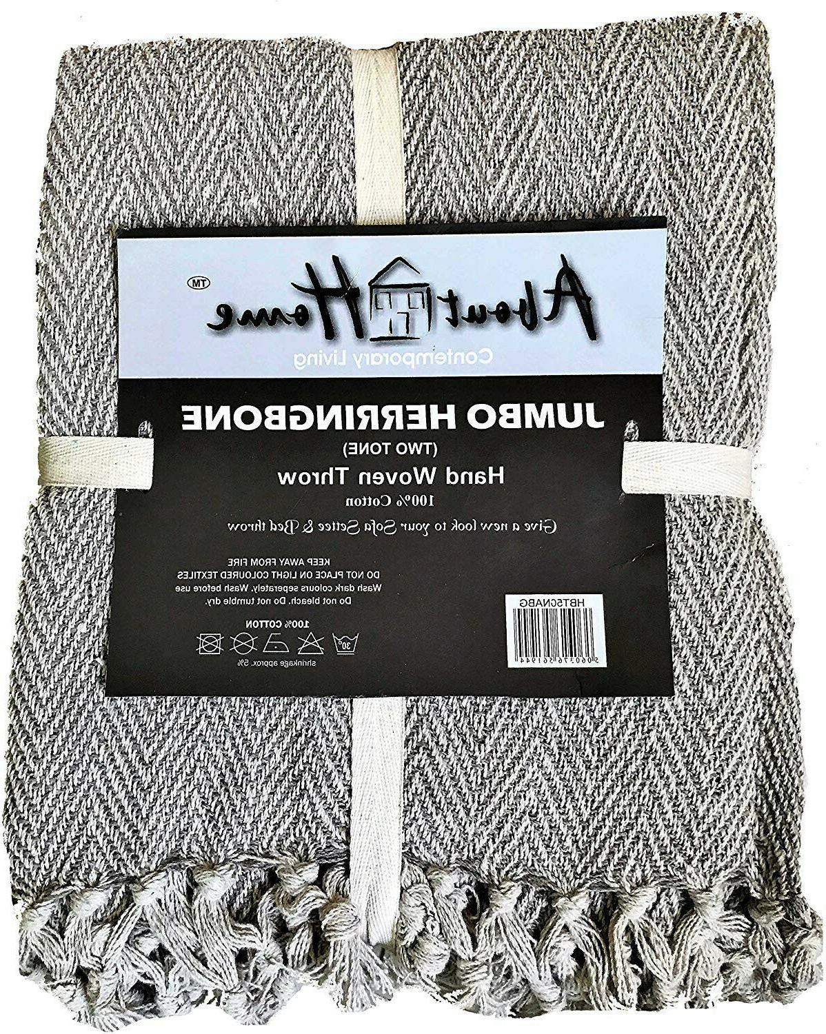 About Two Tone Throw 100%
