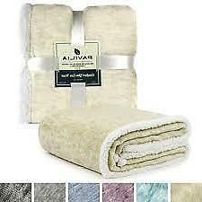 "Pavilia Premium Melange plush/Sherpa Throw Blanket 50""/60"" M"