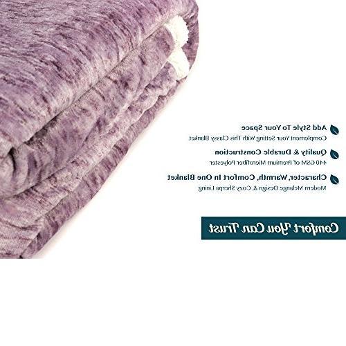 PAVILIA Blanket | Plush Reversible Throw | Fleece All Blanket