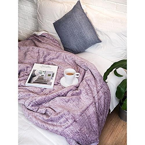 PAVILIA Blanket Couch, Sofa | Soft Plush Reversible Throw Fleece All Blanket