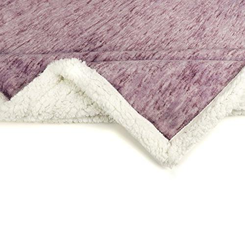 PAVILIA Premium Throw Blanket for Couch, Reversible Throw | Fleece Blanket