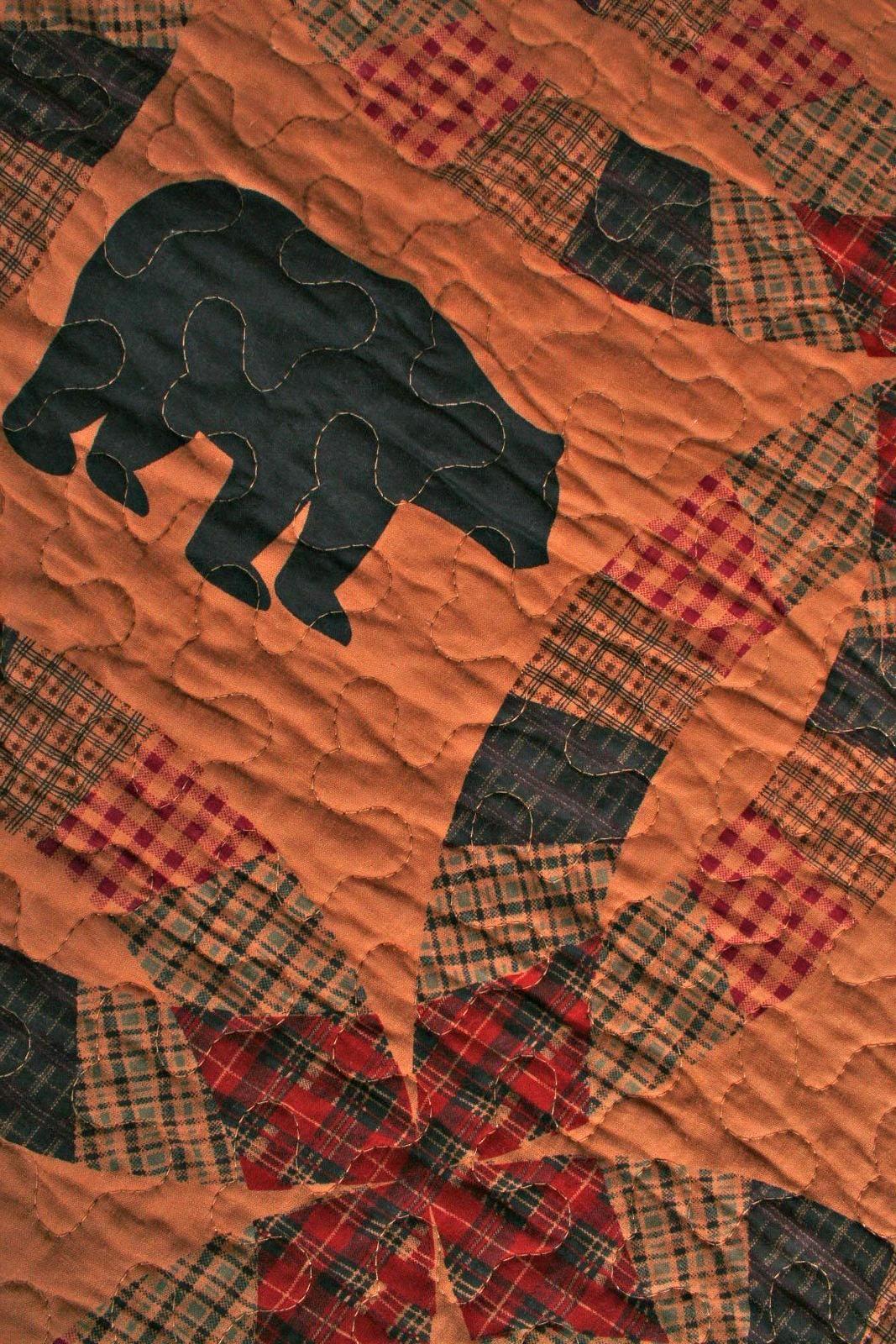 Quilt Black Bear Cabin Life Lap Bedding