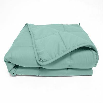 quilted microfiber weighted throw blanket