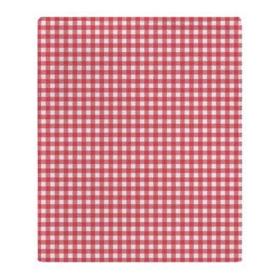 CafePress Red And White Gingham Plaid Pattern Throw Blanket