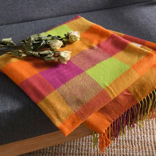 Reversible Tassel Throw Blanket Sofa x 60 inch