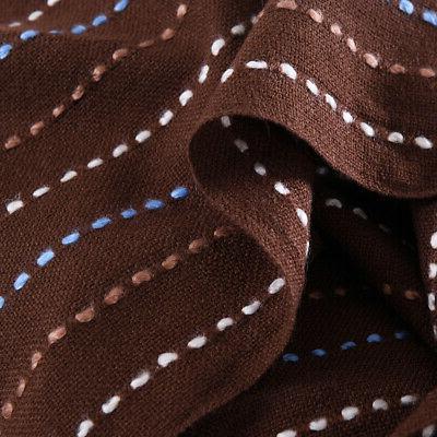 Reversible Tassel Throw Blanket Woven Soft Warm Sofa Home Decor