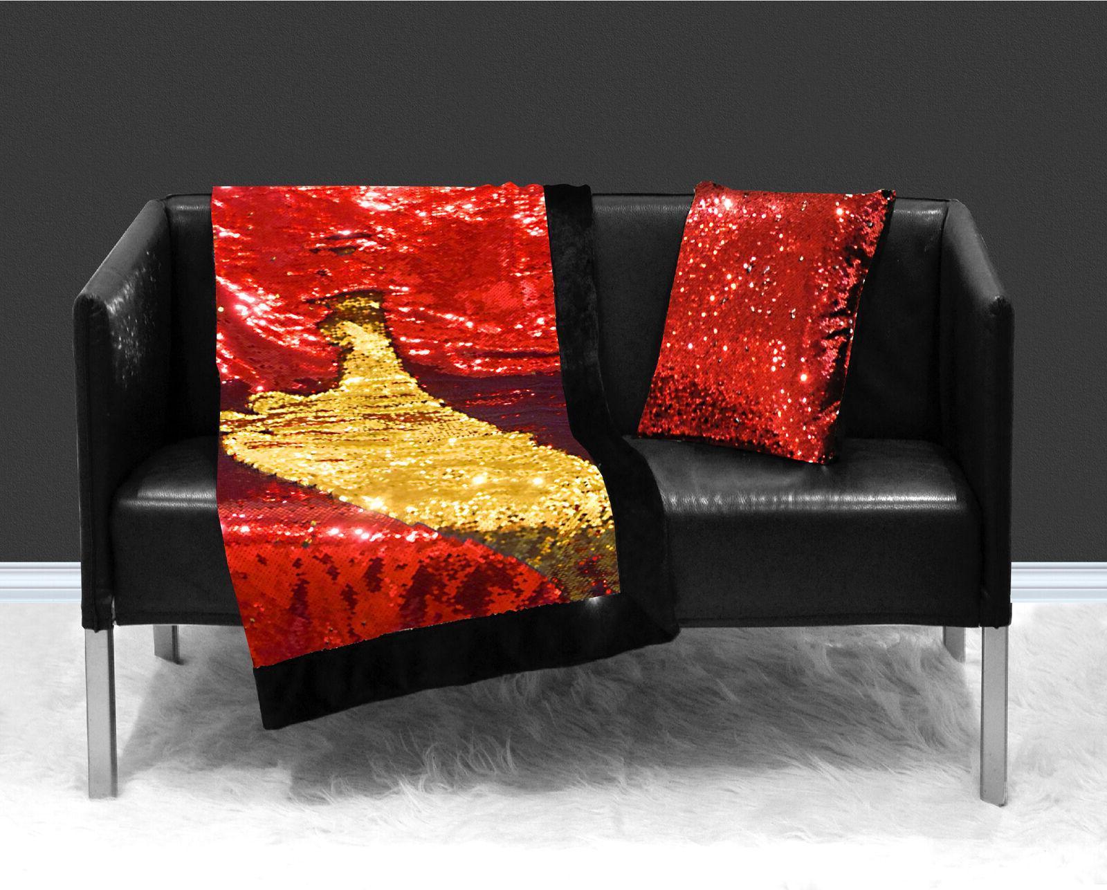 Reversible Throw Blanket Sparkle Red Pink 2DayShip