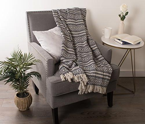 """DII Rustic Adobe Stripe Blanket Couch, Picnic, Camping, & Everyday Use 50 x 60"""" Adobe Stripe"""