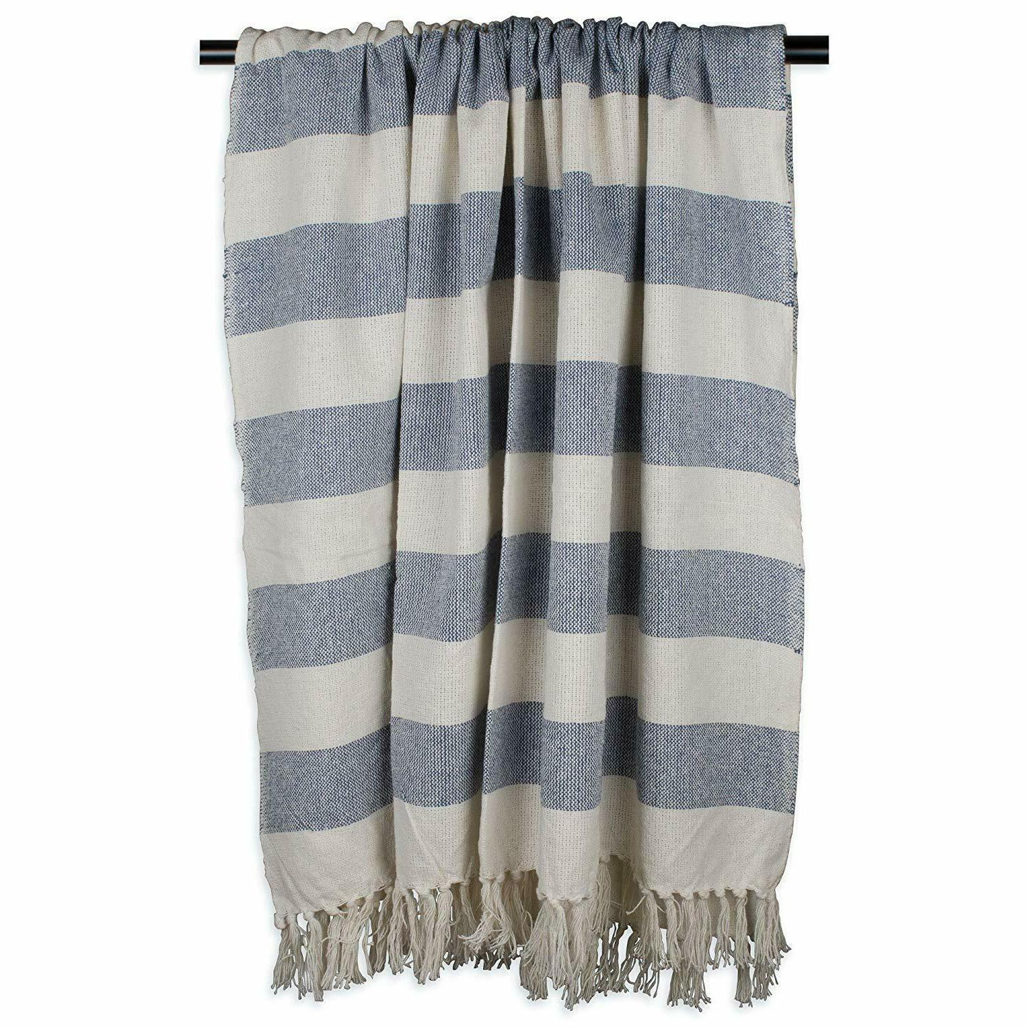 DII Cotton Cabana Striped Blanket with