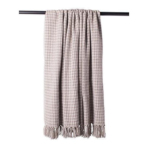 DII Houndstooth Blanket Fringe For Use, 60 -