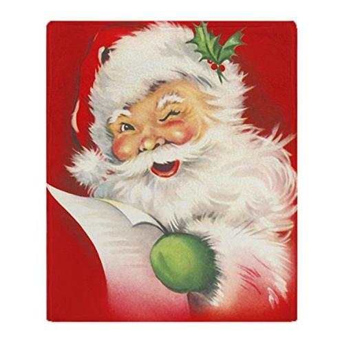 santa vintage soft fleece throw