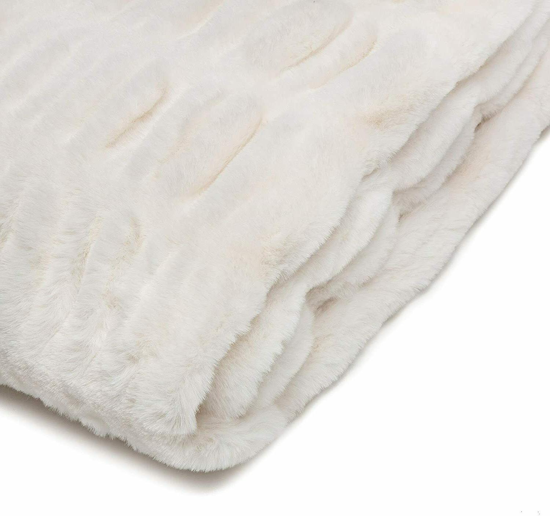 Chanasya Ruched Fur Throw Plush Sofa Couch Bed