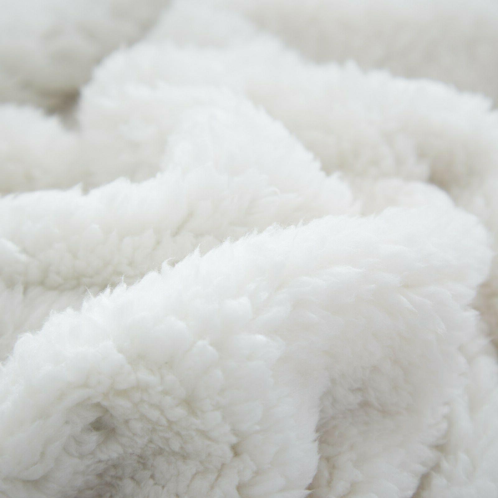 Sherpa Blanket Throw Bed Throws Blanket