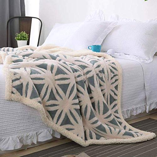 LOMAO Fleece Blanket Fuzzy Dual Throw fit Sofa