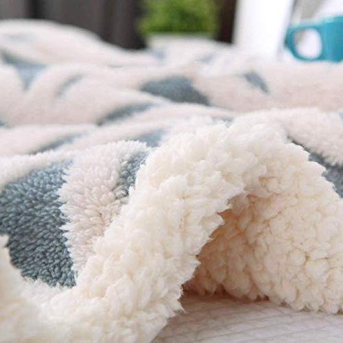 LOMAO Fuzzy Soft Dual Sided Throw Blanket fit Couch