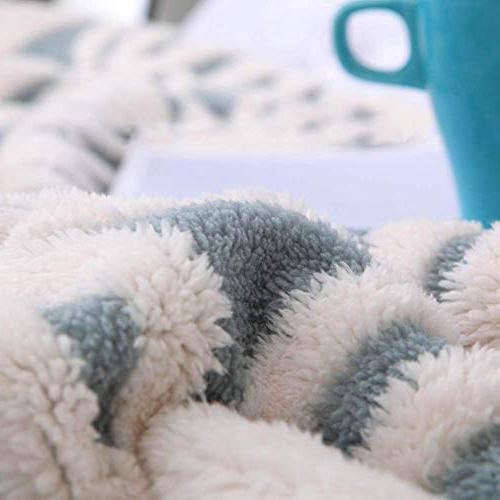 LOMAO Sherpa Fuzzy Bed Dual Sided Throw fit