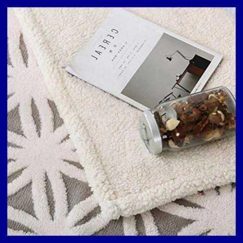 Sherpa Blanket Fuzzy Soft Bed Dual Sided Throw GREY 51X63