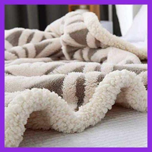 Sherpa Blanket Fuzzy Soft Bed Throw Fit GREY 51X63