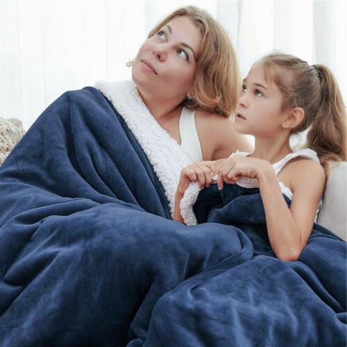 Sherpa Flannel Fleece Soft Warm Bed
