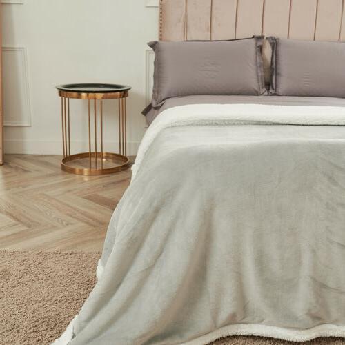 Sherpa Flannel Fleece Soft Bed Twin