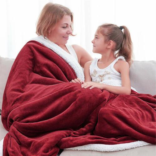 Sherpa Flannel Bed Twin