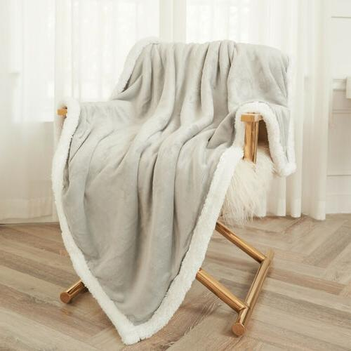 sherpa fleece blanket soft plush fabric warm
