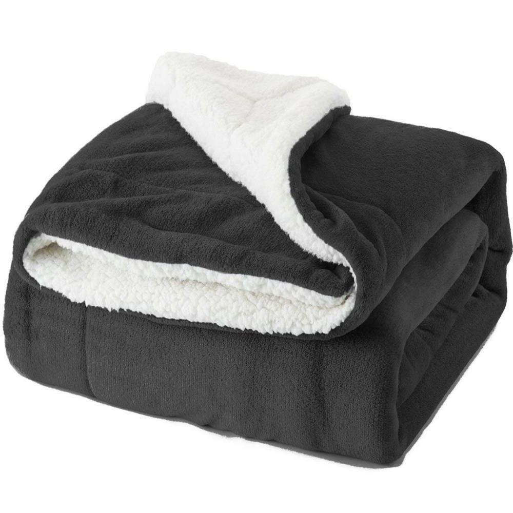 BEDSURE Sherpa Throw Plush Fuzzy Soft Microfiber
