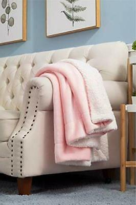 Bedsure Sherpa Throw Throw Pink
