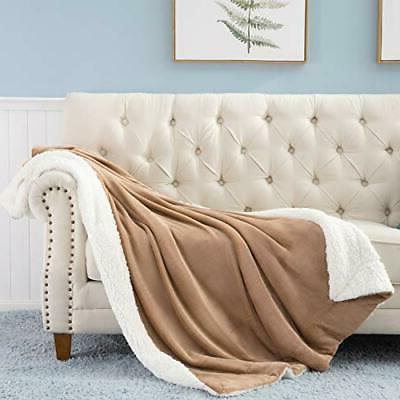 Bedsure Fleece Throw Throw Taupe