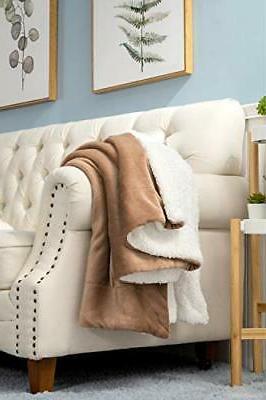 Bedsure Sherpa Blanket Throw Throw