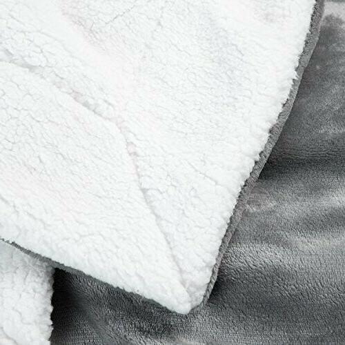 BEDSURE Fleece Twin Grey Throw Blan