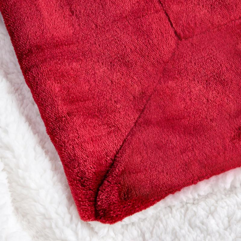 BEDSURE Sherpa Blanket Twin Red