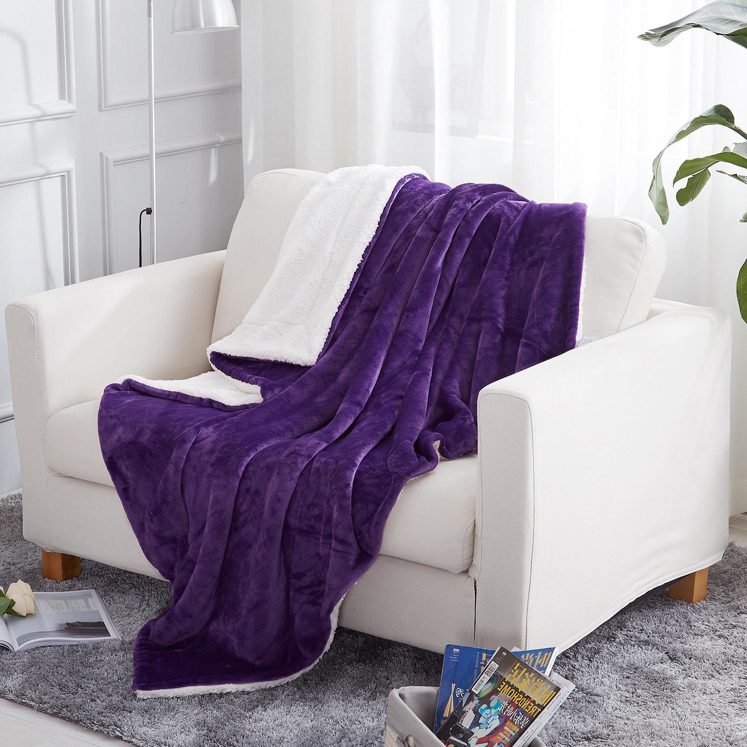 Plush Fuzzy Throw Blanket for Couch Bed