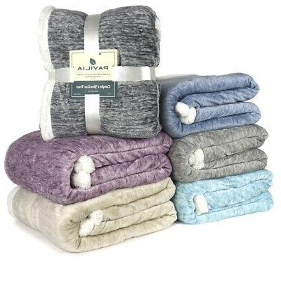 Sherpa for Couch Sofa Twin Reversible Soft Microfiber