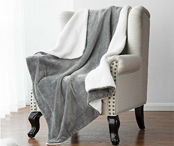 Bedsure Throw Fuzzy Bed Reversible