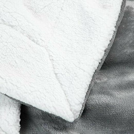 Bedsure Sherpa Throw Blanket Fuzzy Reversible for