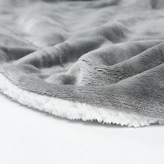 Bedsure Sherpa Fuzzy Bed Throws Fleece Reversible Blanket for