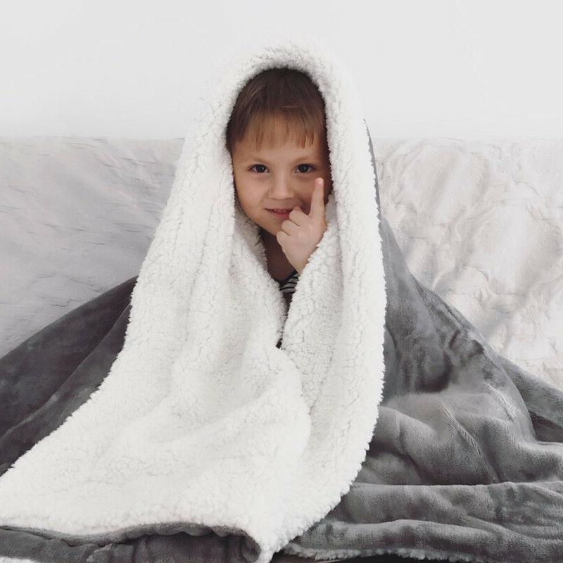 Bedsure Blanket Throw Fuzzy Bed Fleece Reversible Blanket