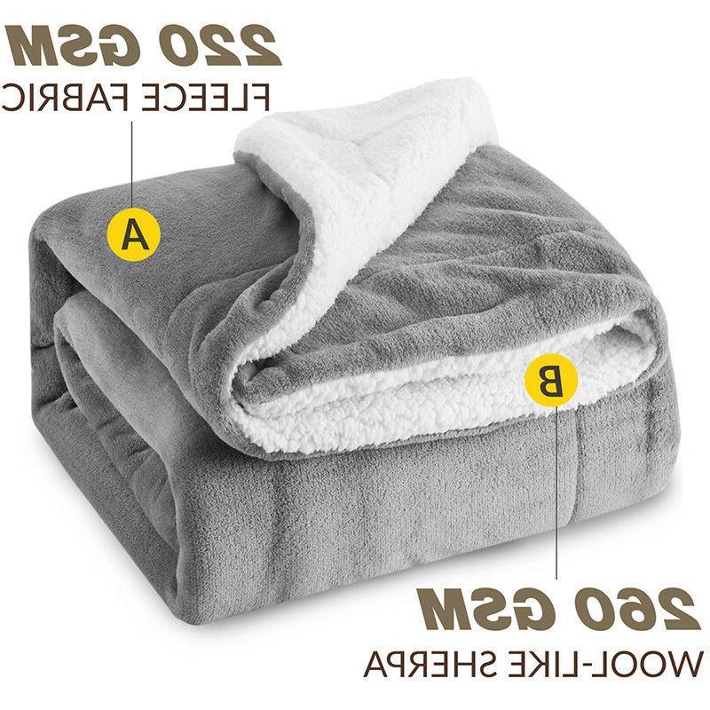 Bedsure Sherpa Blanket Reversible Blanket Sofa