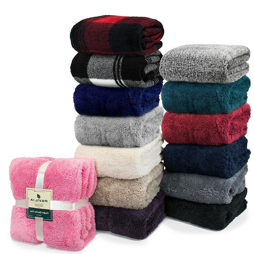 Sherpa Blanket Fleece Plush Soft Couch Fur Bed Blanket