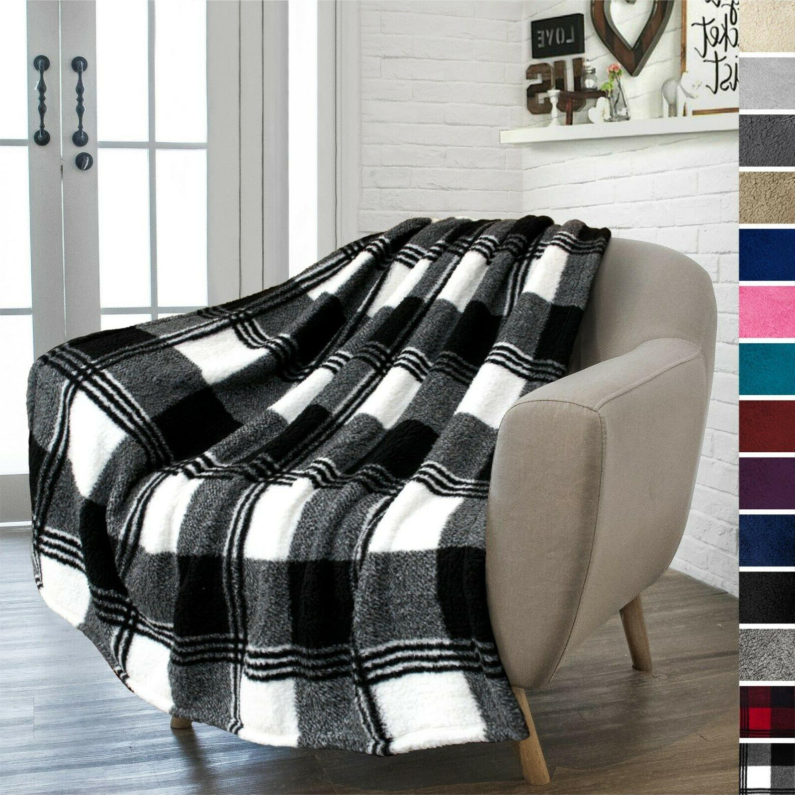 Sherpa Fleece Plush Soft Couch Fur Blanket