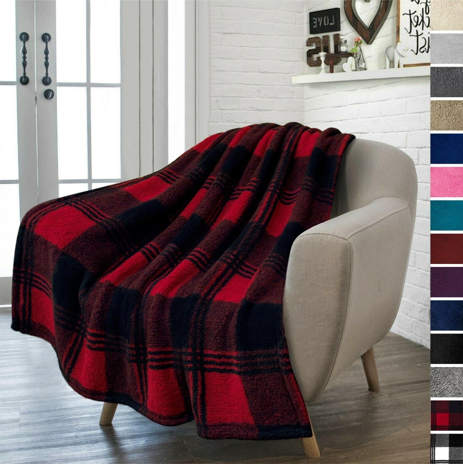 Sherpa Throw Fleece Soft Couch Blanket