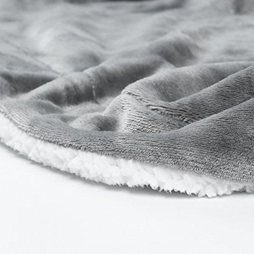 BEDSURE Throw Grey Throw Fuzzy Soft Blanket Microfiber