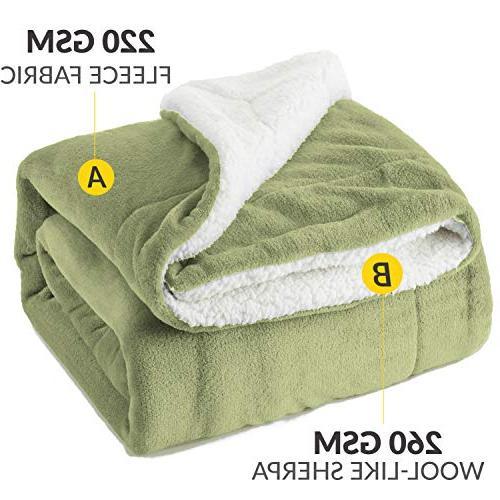 Bedsure Throw Blanket Sage Green 50x60 Bedding Blanket