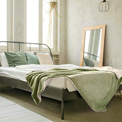 Bedsure Sage Throw Size 50x60 Blanket