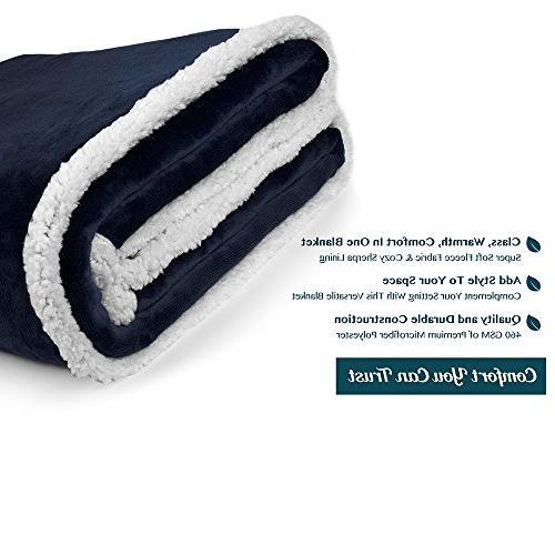 PAVILIA Premium Sherpa Throw Blanket   Super Cozy, Plush Chair Flannel Fleece