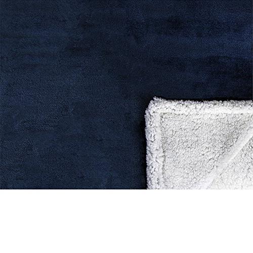 PAVILIA Premium Throw Blanket Couch Sofa   Soft, Cozy, Plush Throw Chair Flannel Fleece Blanket